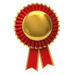 Blank award ribbon rosette